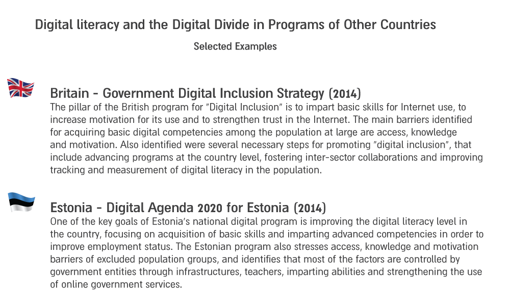photo:                Digital literacy and the Digital Divide in Programs of Other Countries